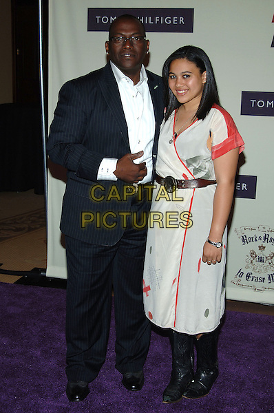 RANDY JACKSON & DAUGHTER.12th Annual Race to Erase MS, Century Plaza Hotel, Century City, California, USA, .April 22nd 2005..full length father family.Ref: ADM.www.capitalpictures.com.sales@capitalpictures.com.©J Wong/AdMedia/Capital Pictures.