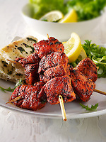 Indian Chicken Tikka with naan bread & salad