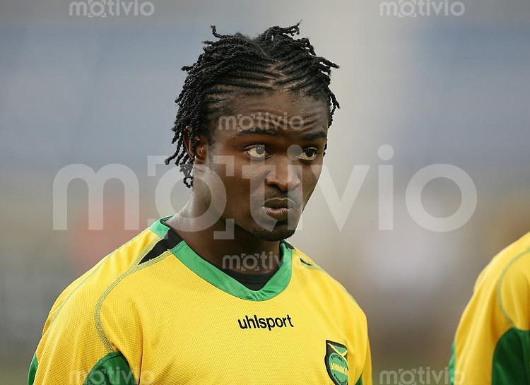 Fussball International Testspiel  Schweiz 2-0 Jamaica Kavin Bryan (JAM) skeptisch