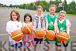 At the team Kerry Basketball camp at Mounthawk School on Thursday were: Cora Savage, Ellie Sugrue, Chloe Sugrue, Ciara Ryan, Emma Reidy.