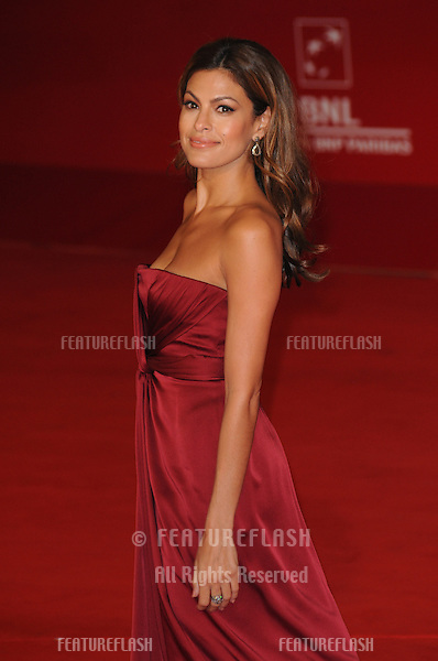 Eva Mendes attends the La Dolce Vita premiere during the 5th annual Rome Film Festival in Rome, Italy. .October 30, 2010  Rome, IT.Picture: Petra / Featureflash