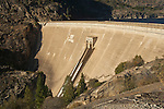 Concrete Dam at Hetch Hetchy Reservoir, Yosemite National Park, California