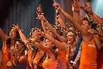 Engeland, London, 10 augustus 2012.Olympische Spelen London.Huldiging in het Holland Heineken House van Laura Smulders en het Dames Hockey Elftal