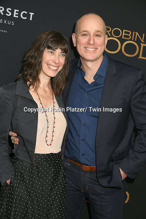"Carolyn Hall and actor Kelly AuCoin attends the New York Special Screening of ""Robin Hood"" on November 11, 2018 at AMC Lincoln Square in New York, New York, USA.<br /> <br /> photo by Robin Platzer/Twin Images<br />  <br /> phone number 212-935-0770"