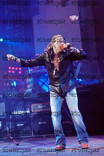 Guns n' Roses - Axl Rose - performing live at the Hammerstein Ballroom in New York USA - 13 May 2006.  Photo credit: George Chin/IconicPix