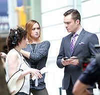 August 17, 2012 Director Amy Heckerling, , Ed Westwick, Kaylee Defer shooting on location for Gossip Girl in New York City. &copy; RW/MediaPunch Inc. /NortePhoto.com<br />