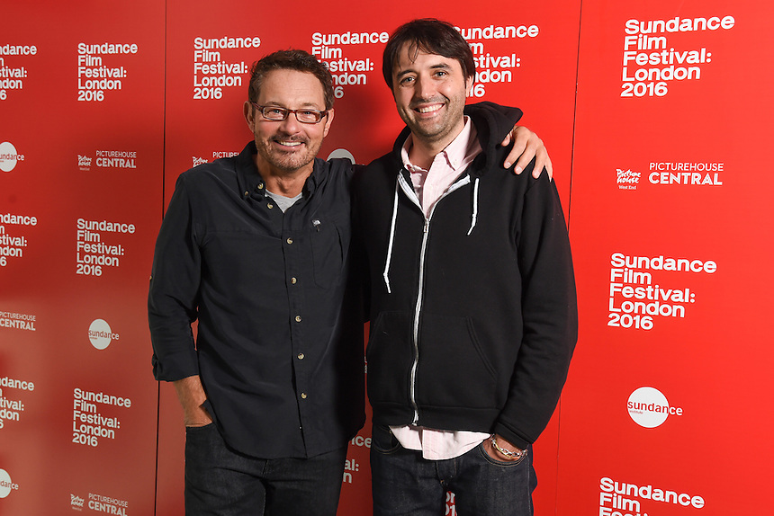 """David Courier and director, Andrew Neel<br /> arrives for the """"Goat"""" screening as part of the Sundance Film Festival: London 2016 at the Picturehouse Central, London.<br /> <br /> <br /> ©Ash Knotek  D3127  03/06/2016"""