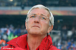 24 JUN 2010:  Italy head coach Marcello Lippi (ITA).  The Slovakia National Team led the Italy National Team 1-0 at half time at Ellis Park Stadium in Johannesburg, South Africa in a 2010 FIFA World Cup Group F match.