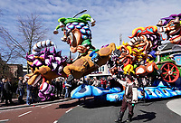 Nederland Oss - 2019. Halfvastenoptocht in Oss. Jaarlijkse afsluiting van het Carnaval seizoen. De mooiste wagens en loopgroepen uit de regio presenteren zich voor de laatste keer aan het publiek.  Foto mag niet in negatieve / schadelijke context gepubliceerd worden.   Foto Berlinda van Dam / Hollandse Hoogte