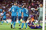 Supercopa de Espa&ntilde;a - Ida.<br /> FC Barcelona vs R. Madrid: 1-3.<br /> Sergio Ramos, Carvajal, Lionel Messi &amp; Keylor Navas.