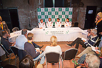 13-09-12, Netherlands, Amsterdam, Tennis, Daviscup Netherlands-Swiss, Draw   Dutch team press-conference