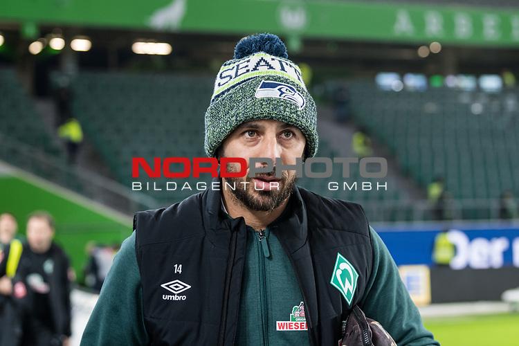 01.12.2019, Volkswagen Arena, Wolfsburg, GER, 1.FBL, VfL Wolfsburg vs SV Werder Bremen<br /> <br /> DFL REGULATIONS PROHIBIT ANY USE OF PHOTOGRAPHS AS IMAGE SEQUENCES AND/OR QUASI-VIDEO.<br /> <br /> im Bild / picture shows<br /> Claudio Pizarro (Werder Bremen #14) <br /> bei Ankunft im Stadion, <br /> <br /> Foto © nordphoto / Ewert
