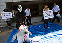 Seal Slaughter Protest at Canadian Embassy in Tokyo