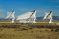 several antenna dishes. New Mexico, Plains of San Agustin.
