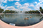 Fountain in Sculpture Garden, National Gallery of Art, National Mall, Washington DC