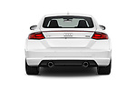 Straight rear view of 2016 Audi TT-Coupe  2.0T-quattro-S-tronic 2 Door Coupe stock images