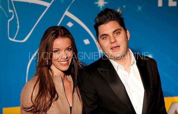 Jeroen Meus and his girlfriend Stéphanie De Roover at the Nacht van de Vlaamse Televisiesterren in Hasselt (Belgium, 06/03/2010)