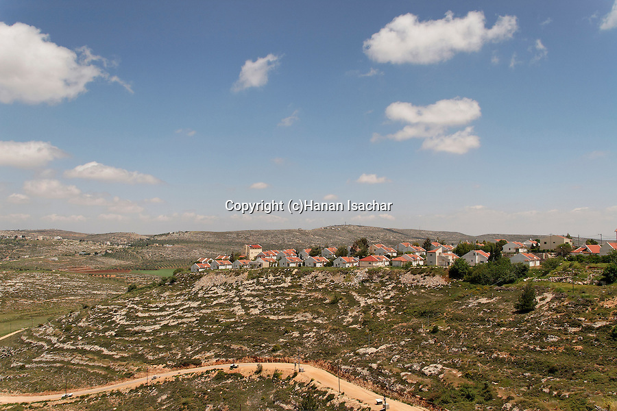 Samaria, Shilo settlement founded in 1978, overlooking Levona valley