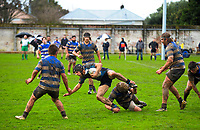 Action from the Manawatu colts club rugby Gordon Brown Memorial Cup Final between Wanganui Metro and Massey White at Arena Manawatu in Palmerston North, New Zealand on Saturday, 22 July 2017. Photo: Dave Lintott / lintottphoto.co.nz