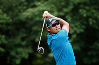 Hideki Matsuyama (JPN) tees off on the 9th hole during the 1st round of the 100th PGA Championship at Bellerive Country Club, St. Louis, Missouri, USA. 8/9/2018.<br /> Picture: Golffile.ie | Brian Spurlock<br /> <br /> All photo usage must carry mandatory copyright credit (© Golffile | Brian Spurlock)