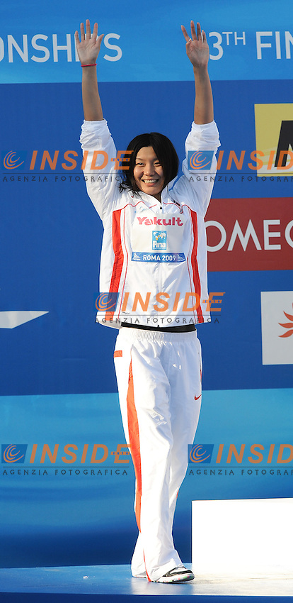 Roma 1st August 2009 - 13th Fina World Championships .From 17th to 2nd August 2009.Women's 50m Butterfly.Yafei ZHOU (CHN) Silver Medal.Roma2009.com/InsideFoto/SeaSee.com . .Foto Andrea Staccioli Insidefoto