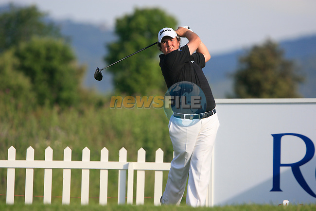 Shane Lowry (IRL) tees off on the 1st tee during Day 1 of the Open de Espana at Real Club De Golf El Prat, Terrasa, Barcelona, 5th May 2011. (Photo Eoin Clarke/Golffile 2011)