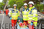 Members of Tralee Red Cross pictured at the Emergency services display during Heros week at Denny Street on Saturday were from Left: Sean O'Callaghan, David Heaslip, Pierse Heaslip.