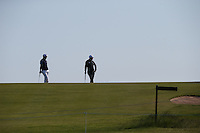 Silhouette players waiting to putt during Round Two of the 2015 Nordea Masters at the PGA Sweden National, Bara, Malmo, Sweden. 05/06/2015. Picture David Lloyd | www.golffile.ie
