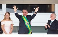BRASILIA, DF, 01.01.2019 - BOLSONARO-POSSE-    O presidente Michel Temer, passa a faixa presidencial para o presidente empossado, Jair Bolsonaro, nesta terça, 01.(Foto:Ed Ferreira / Brazil Photo Press)