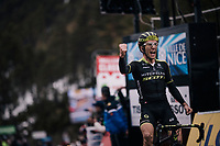 Simon Yates (GBR/Michelton-Scott) wins Stage 7 (Nice > Valdeblore La Colmiane / 175km) & takes the yellow jersey/GC lead in the process<br /> <br /> 76th Paris-Nice 2018