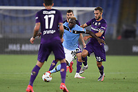 Felipe Caceido of SS Lazio and German Pezzella of Fiorentina compete for the ball during the Serie A football match between SS Lazio and ACF Fiorentina at stadio Olimpico in Roma ( Italy ), June 27th, 2020. Play resumes behind closed doors following the outbreak of the coronavirus disease. Photo Antonietta Baldassarre / Insidefoto