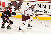 McKenna Brand (NU - 7), Tori Sullivan (BC - 9) - The Boston College Eagles defeated the Northeastern University Huskies 5-1 (EN) in their NCAA Quarterfinal on Saturday, March 12, 2016, at Kelley Rink in Conte Forum in Boston, Massachusetts.