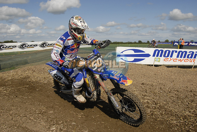 Alessandro Lupino (ITA) rounds a bend during the MX2 Grand Prix Race2 in  the Motocross Grand Prix at Fairyhouse Race Course, Co.Meath, Ireland, 31st August 2008.(Photo Eoin Clarke/Newsfile)