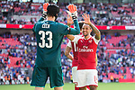Petr Cech of Arsenal and Theo Walcott of Arsenal after the The FA Community Shield match at Wembley Stadium, London. Picture date 6th August 2017. Picture credit should read: Charlie Forgham-Bailey/Sportimage
