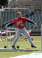 April 10, 2004:  Manager Marty Pevey of the Syracuse Sky Chiefs, Class-AAA International League affiliate of the Toronto Blue Jays, during a game at Frontier Field in Rochester, NY.  Photo by:  Mike Janes/Four Seam Images