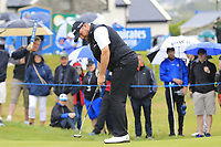 Shane Lowry (IRL) putts on the 17th hole during Saturday's Round 3 of the Dubai Duty Free Irish Open 2019, held at Lahinch Golf Club, Lahinch, Ireland. 6th July 2019.<br /> Picture: Eoin Clarke | Golffile<br /> <br /> <br /> All photos usage must carry mandatory copyright credit (© Golffile | Eoin Clarke)