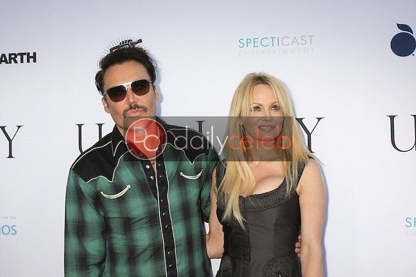 """David LaChapelle, Pamela Anderson<br /> <br /> at the """"Unity"""" Documentary World Premeire, Director's Guild of America, Los Angeles, CA 06-24-15"""