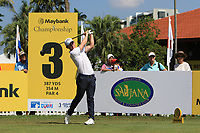 Chris Paisley (ENG) on the 3rd tee during Round 1 of the Maybank Championship at the Saujana Golf and Country Club in Kuala Lumpur on Thursday 1st February 2018.<br /> Picture:  Thos Caffrey / www.golffile.ie<br /> <br /> All photo usage must carry mandatory copyright credit (© Golffile | Thos Caffrey)