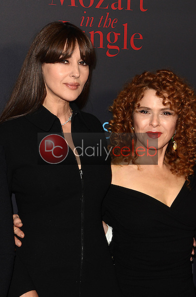 Monica Bellucci, Bernadette Peters<br /> at the &quot;Mozart In The Jungle&quot; Special Screening and Concert, The Grove, Los Angeles, CA 12-01-16<br /> David Edwards/DailyCeleb.com 818-249-4998