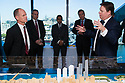 SYDNEY, AUSTRALIA - June 18:  Queensland Premier Campbell Newman visits Lend Lease and Barangaroo on June 18 , 2014 in Sydney, Australia.