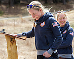 EAST MONTPELIER - USA Vermont Olympians speak at Morse Farm about the influence of climate change on winter sports they have experienced world wide and make suggestions on attacking the problem. Speaking, Hannah Dreissigacker.  Background Ida Sargent.