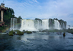 A rainbow in front of the Santa Maria Waterfall at Iguazu Falls National Park in Brazil.  A UNESCO World Heritage Site.