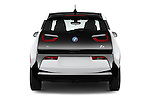 Straight rear view of 2017 BMW i3 Range-Extender 5 Door Hatchback Rear View  stock images