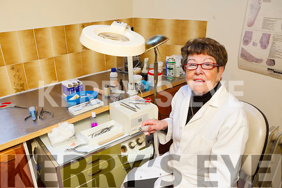 Chiropodist Ita McVey is retiring from her clinic in Broguemakers Lane in Tralee after 45 years service.