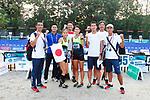 Japan team group (JPN), <br /> AUGUST 31, 2018 - Modern Pentathlon : <br /> Women's Individual <br /> at APM Equestrian Center <br /> during the 2018 Jakarta Palembang Asian Games <br /> in Banten, Indonesia. <br /> (Photo by Naoki Morita/AFLO SPORT)