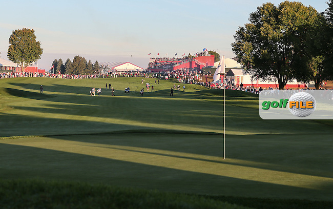 View of the 1st  during the Saturday Morning Foursomes, at the 41st Ryder Cup 2016, at Hazeltine National Golf Club, Minnesota, USA.  01View of the 10th2016. Picture: David Lloyd | Golffile.