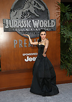 LOS ANGELES, CA - JUNE 12: Daniella Pineda, at Jurassic World: Fallen Kingdom Premiere at Walt Disney Concert Hall, Los Angeles Music Center in Los Angeles, California on June 12, 2018. Credit: Faye Sadou/MediaPunch