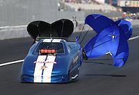 Feb. 15, 2013; Pomona, CA, USA; NHRA top alcohol funny car driver Bernie Harrington during qualifying for the Winternationals at Auto Club Raceway at Pomona. Mandatory Credit: Mark J. Rebilas-