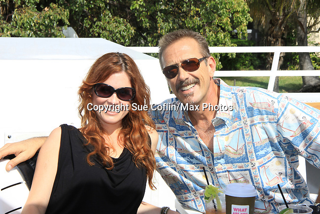 One Life To Live Melissa Archer and All My Children Walt Willey at SoapFest's Celebrity Weekend - Cruisin' and Schmoozin' on the Marco Island Princess - mix and mingle and watching dolphins - autographs, photos, live auction raising money for kids on November 11, 2012 Marco Island, Florida. (Photo by Sue Coflin/Max Photos)