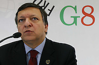L'Aquila: Conferenza stampa del presidente della Commissione Europea Jose' Manuel Barroso al G8 dell'Aquila